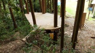 ツリーハウス ステージ作りの作業工程