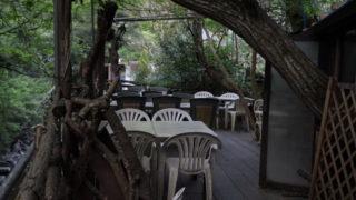 犬鳴山温泉のツリーハウス風カフェレストラン「カフェテラス空(くう)」