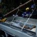 トラックに丸太を固定するロープの縛り方